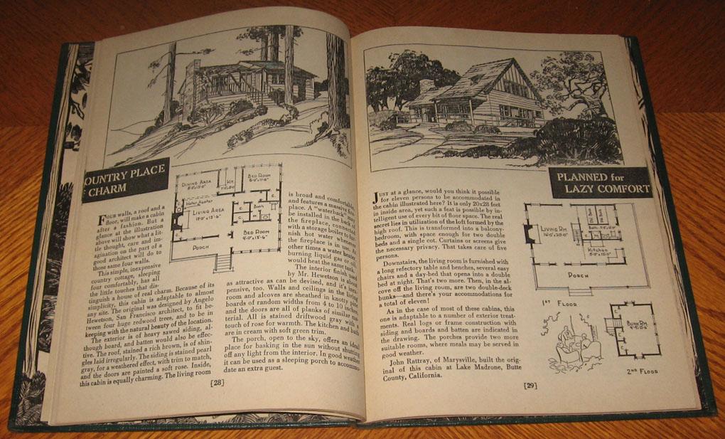 Vintage 1930s sunset 39 s cabin plan book floor plans small for Sunset magazine house plans